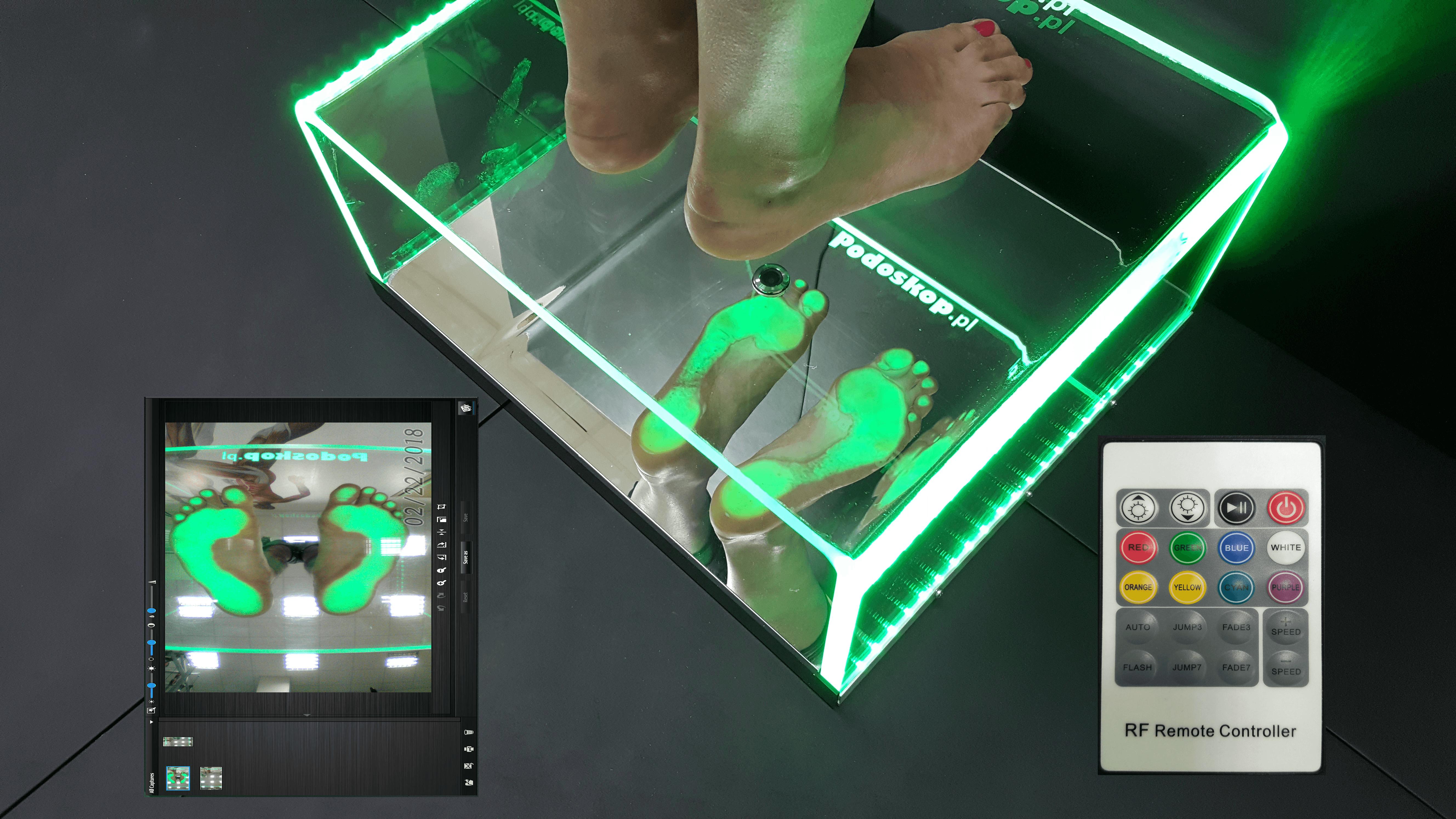 Podoskop diagnostyczny z kamerą
