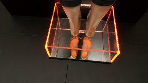 Podoskop komputerowy pomarańczowy